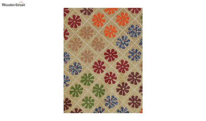 Brown Screen Print Jaipuri Double Bed Sheet With Pillow Covers-3