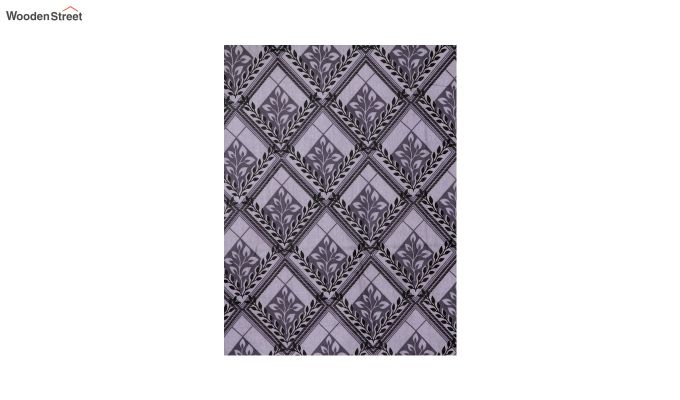 Grey Screen Print Double Bed Sheet With Pillow Covers-3