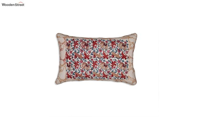 Multicolour Bagru Hand Block Print Double Bed Sheet With Pillow Covers-2