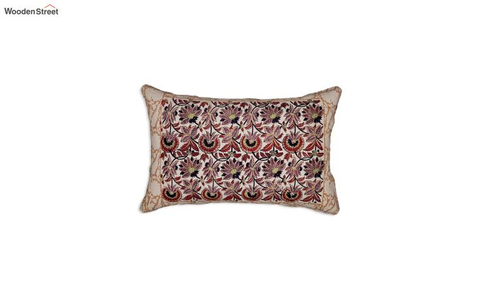 Multicolour Bagru Print Hand Block Double Bed Sheet With Pillow Covers-2