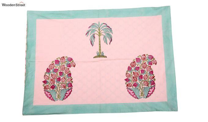 Petal Palm Hand Block Print Bed Sheet-3