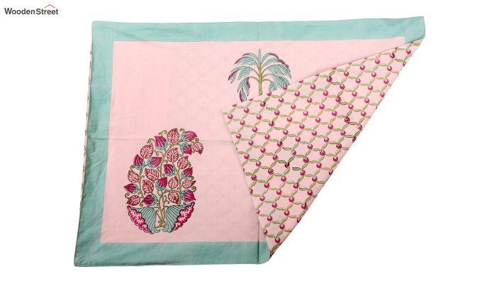 Petal Palm Hand Block Print Bed Sheet-4