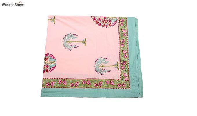 Petal Palm Hand Block Print Bed Sheet-5