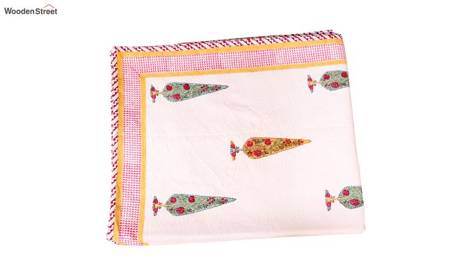 Victory Pine Hand Block Print Bed Sheet With Pillow Covers-6