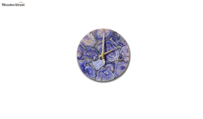 Agate Gem Therapy Blue Wall Clock-2