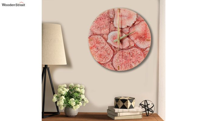 Agate Gem Therapy Red Wall Clock-1