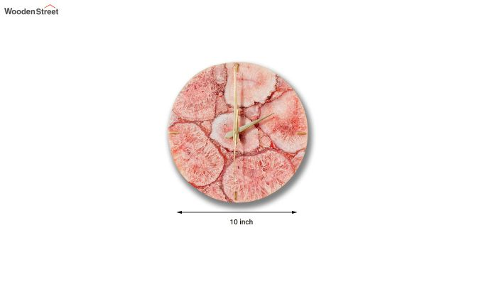 Agate Gem Therapy Red Wall Clock-3