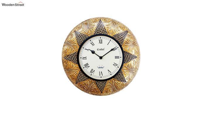 Antique 12-inch Brass Metal Decorative Wall Clock-2
