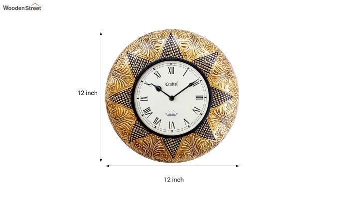 Antique 12-inch Brass Metal Decorative Wall Clock-3