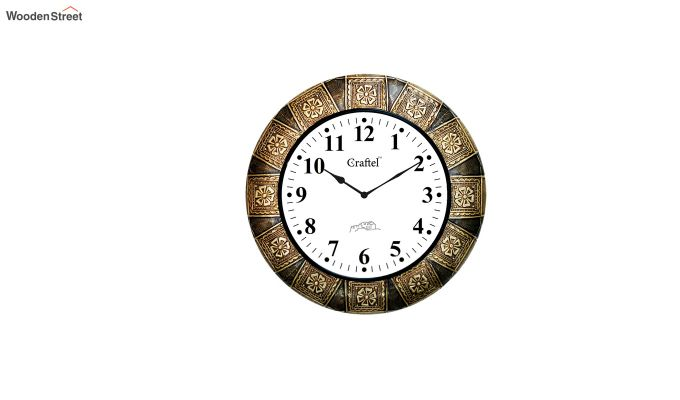 Antique 18-inch Brass Metal Decorative Wall Clock-2