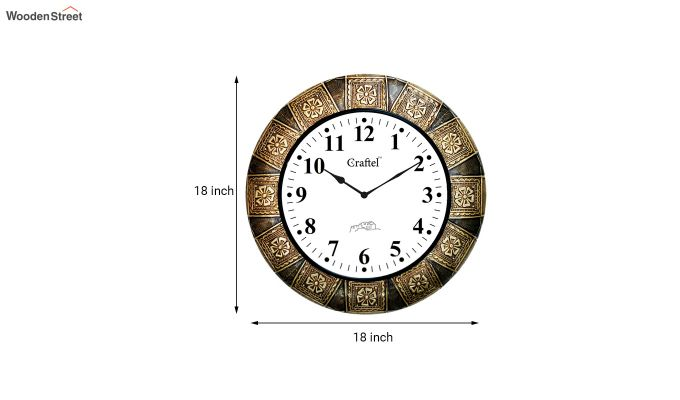 Antique 18-inch Brass Metal Decorative Wall Clock-3