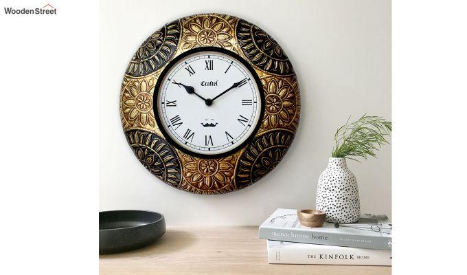 Antique Brass Metal Decorative Wall Clock-1