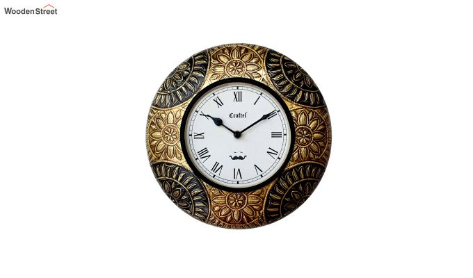Antique Brass Metal Decorative Wall Clock-2