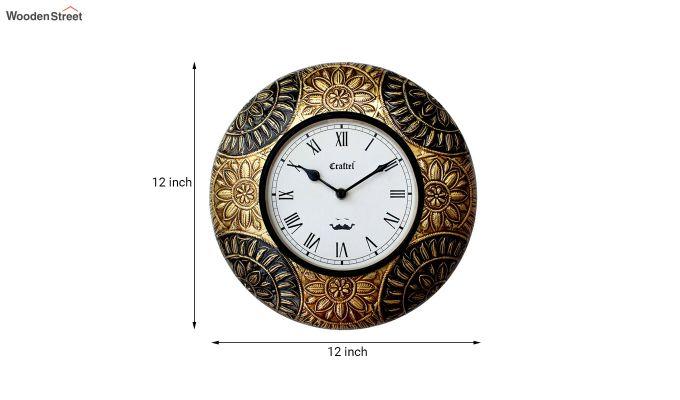 Antique Brass Metal Decorative Wall Clock-3