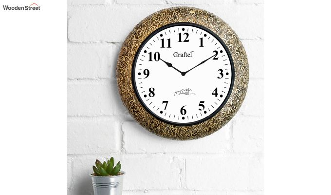 Antique Design Brass Metal Decorative Wall Clock-1