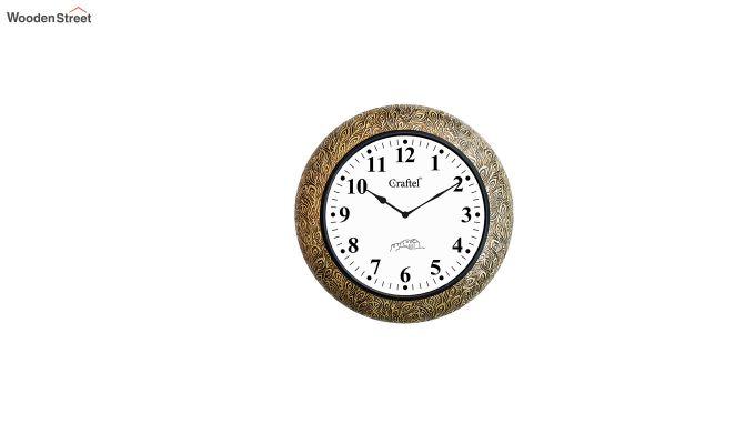 Antique Design Brass Metal Decorative Wall Clock-2