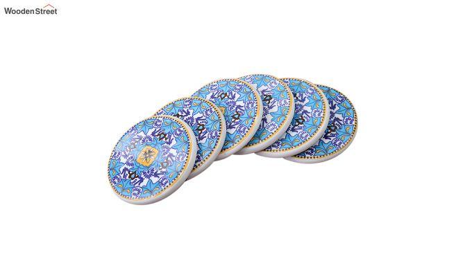 Aqua Blue Ceramic Coasters - Set of 6-2
