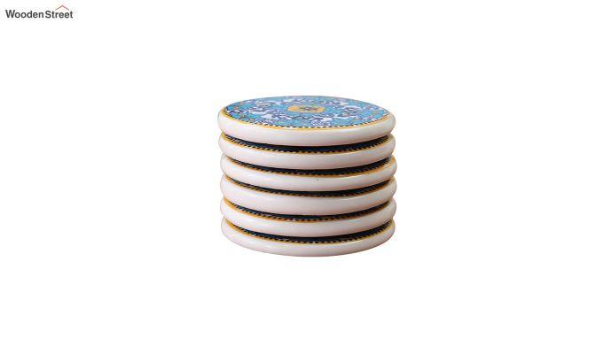 Aqua Blue Ceramic Coasters - Set of 6-3