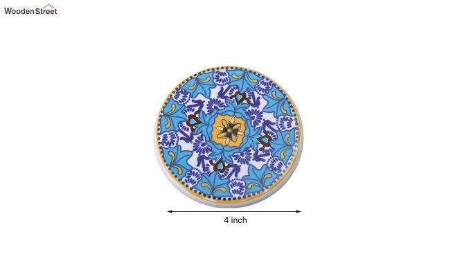 Aqua Blue Ceramic Coasters - Set of 6-6