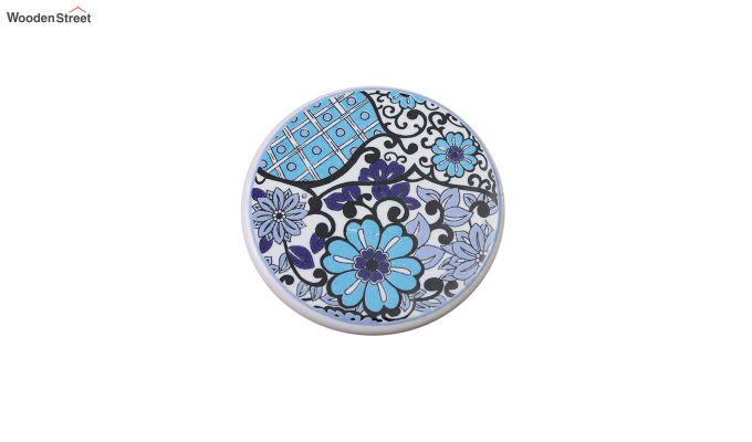 Blue Flowers Ceramic Coasters - Set of 6-4