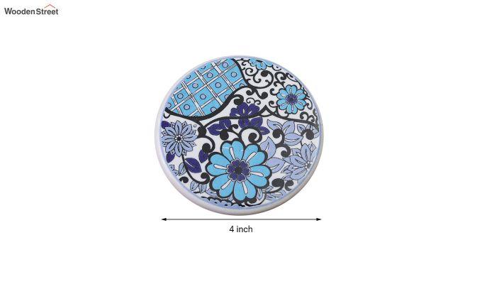 Blue Flowers Ceramic Coasters - Set of 6-6