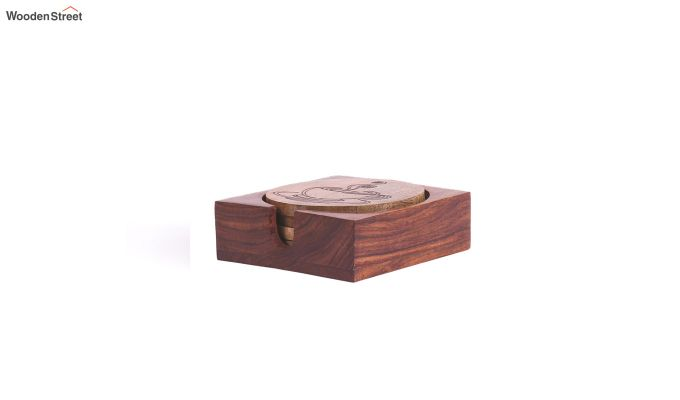 Hand Made Wooden Coffee Coasters - Set of 4-5