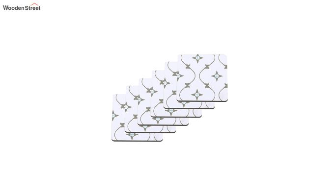 MDF Star Pattern Coasters with Holder - Set of 6-3