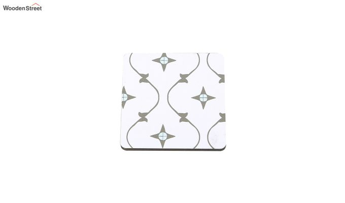 MDF Star Pattern Coasters with Holder - Set of 6-4