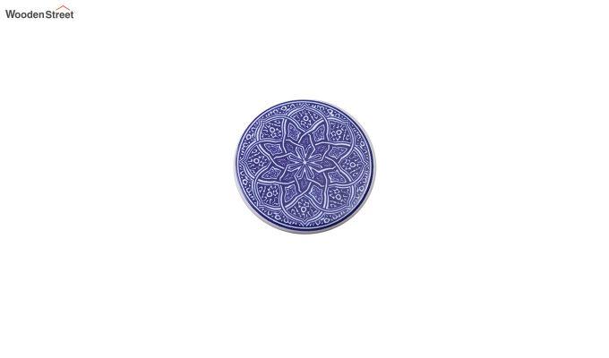 Moroccan Blue Ceramic Coasters - Set of 6-4