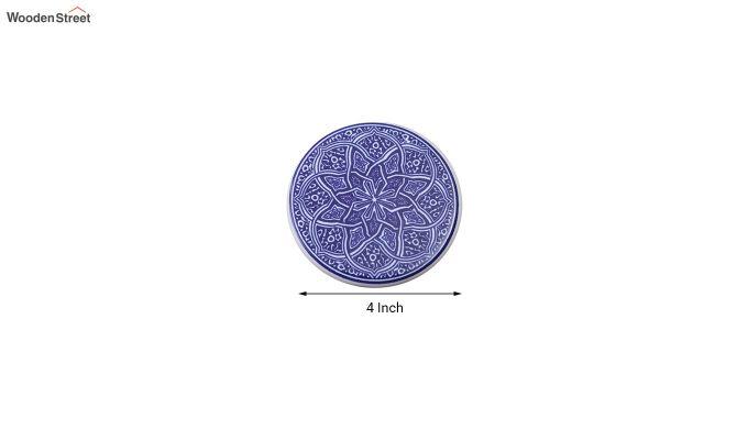 Moroccan Blue Ceramic Coasters - Set of 6-6