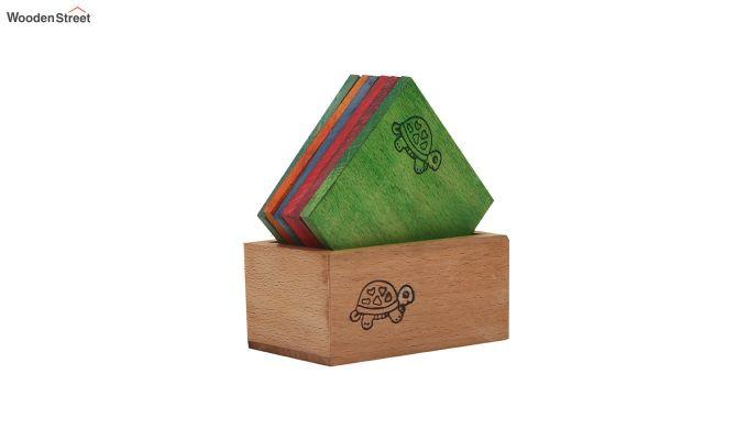 Tiny Turtle Multi-Coloured Coasters - Set of 6-2