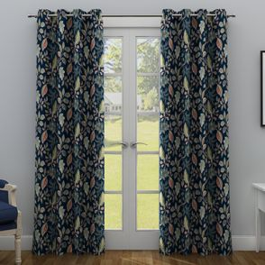 Dusky Leaf Door Curtain 84 X 48 Inch