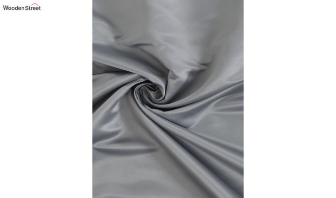 Grey Semi Blackout Embroidered Polyester Door Curtain (84 x 54 inch)-4