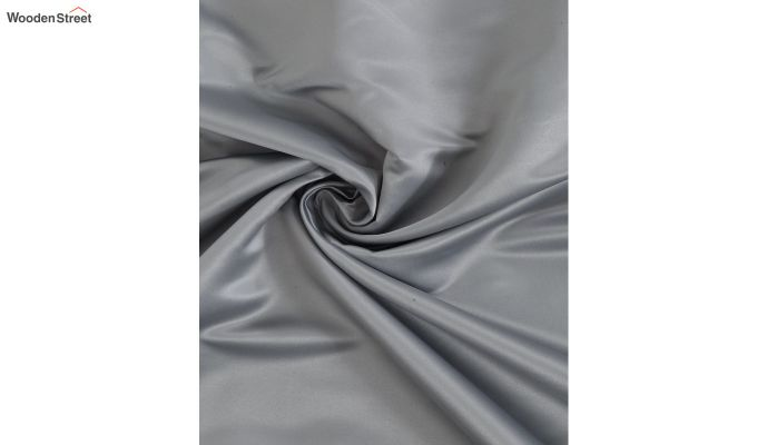 Grey Semi Blackout Embroidered Polyester Long Door Curtain (108 x 54 inch)-3