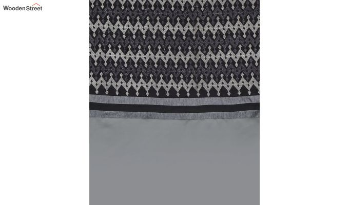Grey Semi Blackout Embroidered Polyester Long Door Curtain (108 x 54 inch)-4