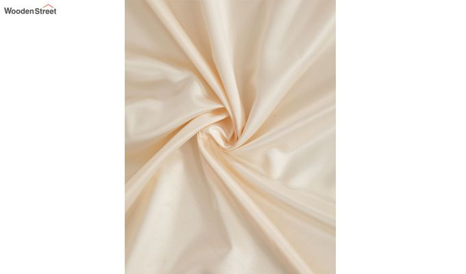 Ivory & Red Semi Blackout Embroidered Door Curtain (84 x 54 inch)-4