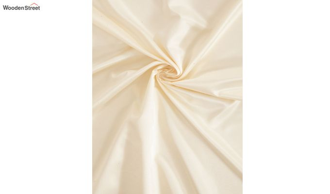 Ivory Semi Blackout Embroidered Polyester Door Curtain (84 x 54 inch)-4