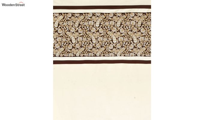 Ivory Semi Blackout Embroidered Polyester Door Curtain (84 x 54 inch)-5