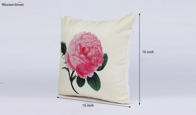 Abstract Flowers Pattern Jute Cushion Covers (Set of 5)-8
