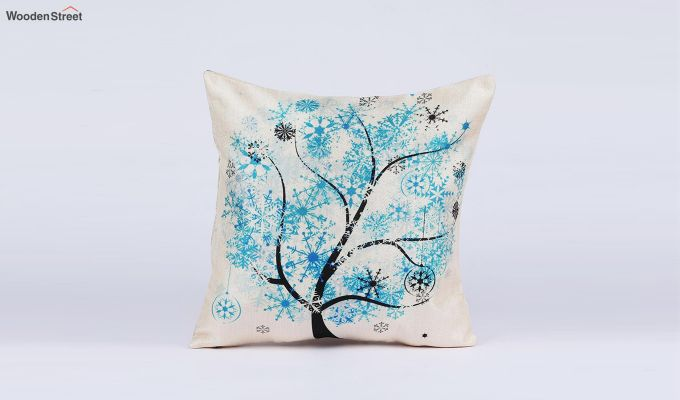 Abstract Forest Pattern Jute Cushion Covers (Set of 5)-4