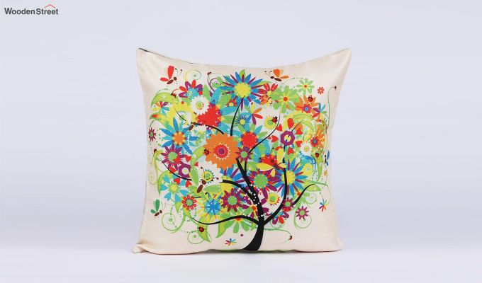 Abstract Forest Pattern Jute Cushion Covers (Set of 5)-6