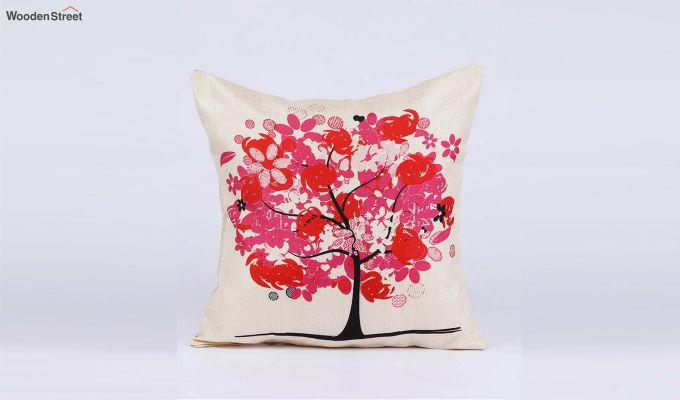 Abstract Forest Pattern Jute Cushion Covers (Set of 5)-7