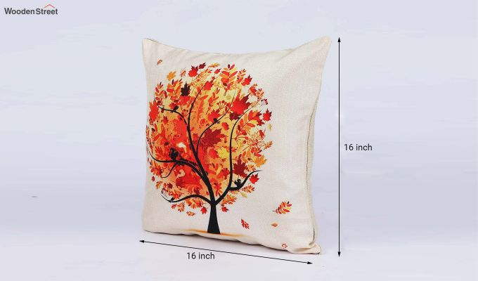 Abstract Forest Pattern Jute Cushion Covers (Set of 5)-8