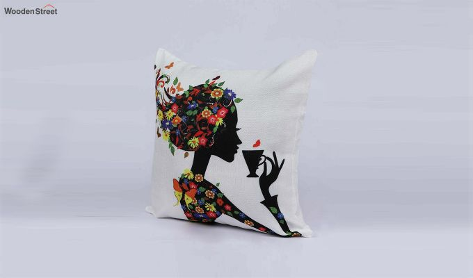 Abstract Girl Pattern Jute Cushion Covers (Set of 5)-3