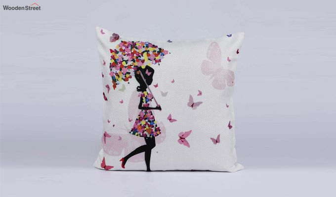 Abstract Girl Pattern Jute Cushion Covers (Set of 5)-5