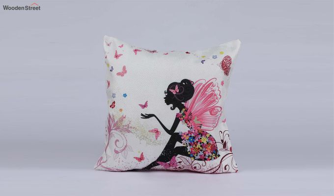 Abstract Girl Pattern Jute Cushion Covers (Set of 5)-6