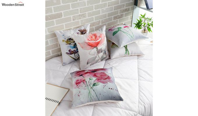 Abstract Grey Pattern Jute Cushion Covers (Set of 5)-1