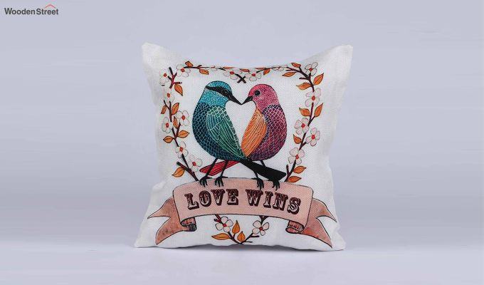 Abstract Love Wins Pattern Jute Cushion Covers (Set of 5)-6