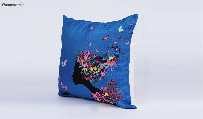 Abstract Multicolour Jute Cushion Covers (Set of 5)-3