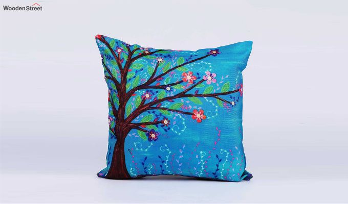 Abstract Multicolour Jute Cushion Covers (Set of 5)-4
